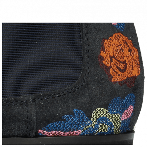 Stiefeletten Toni 7 Suede Navy Embroidery Orange Blue Multi Modica Dark Grey