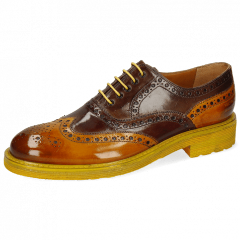 Oxford Schuhe Trevor 1 Yellow Dark Finishing Mink Chestnut
