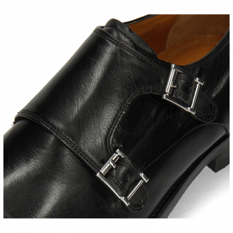 Monk Schuhe Freddy 1 Remo Black Modica Navy