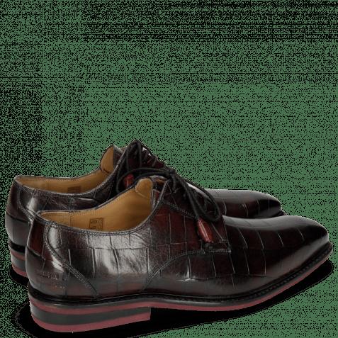 Derby Schuhe Marvin 19 Turtle Dark Black