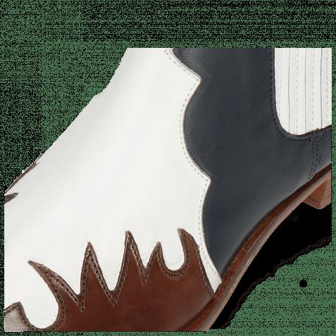 Stiefeletten Marlin 46 Mogano Rio White Nappa Ship Glove Deep Navy