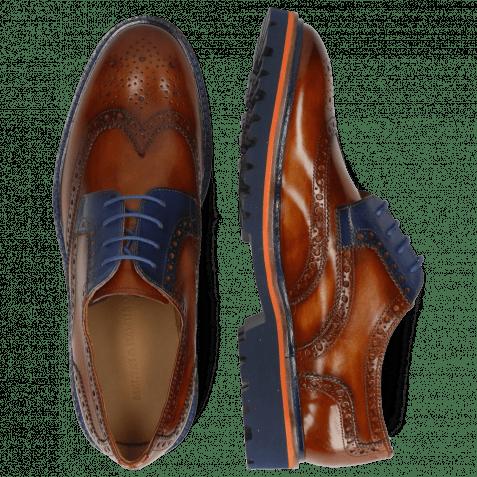 Derby Schuhe Matthew 33 Wood Electric Blue