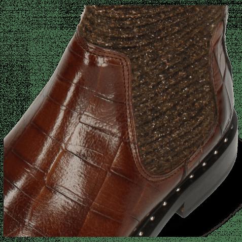 Stiefeletten Susan 69 Turtle Dark Brown Textile Brina Mokka