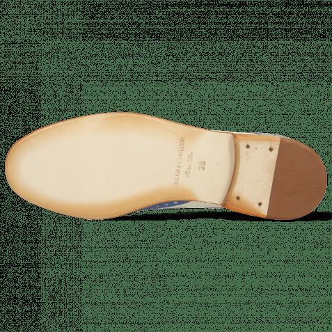 Derby Schuhe Amelie 3 Vegas Neptune Blue Wind Vegas Perfo White