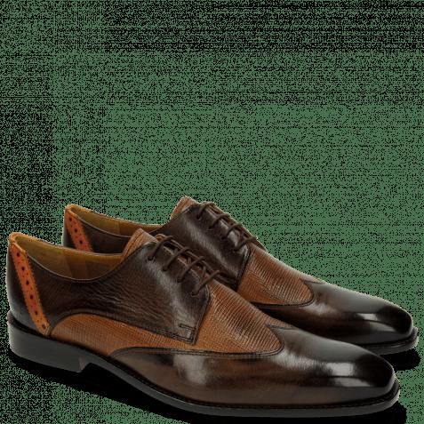 Derby Schuhe Xabi 1 Berlin Haina Dark Brown