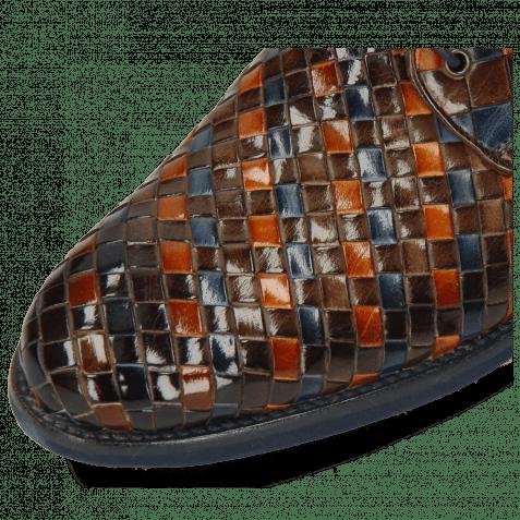 Derby Schuhe Brad 7 Woven Multi Woven Lining Rich Tan