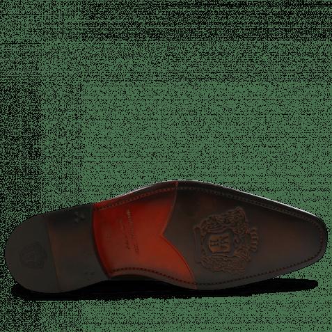 Derby Schuhe Stanley 2 Croco Tan LS