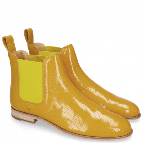 Stiefeletten Susan 10A Napplack Fluo Perfo Yellow