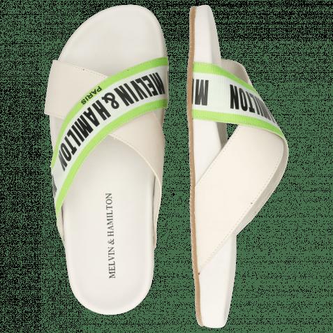 Pantoletten Robert 16 Flex White Strap M&H Green