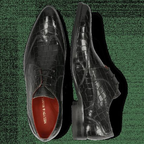 Derby Schuhe Toni 2 Crock Glicine Lining Red Modica Navy