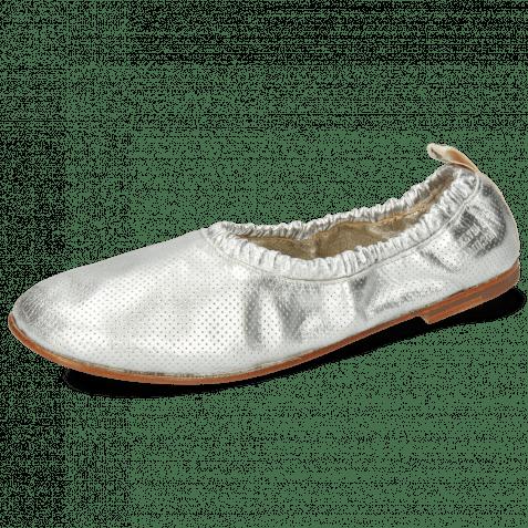 Ballerinas Iris 2 Nappa Metallic Perfo Silver Super Flex