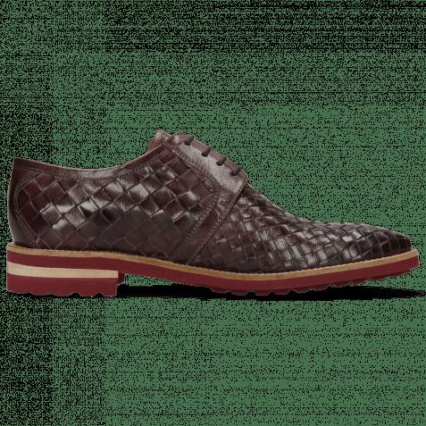 Derby Schuhe Brad 1 Woven Venice Deep Pink