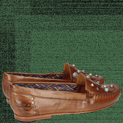 Loafers Bridget 1 Milano Tan Rivets