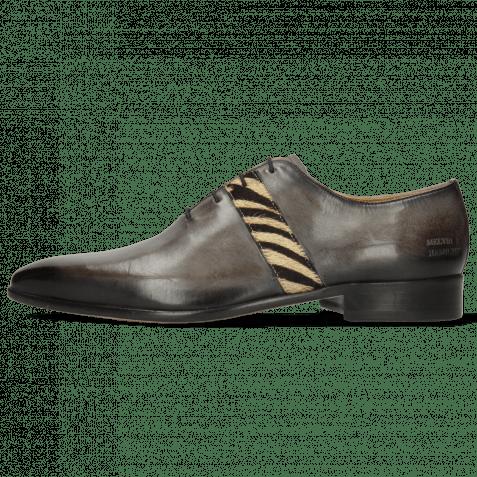 Oxford Schuhe Lance 60 Grigio Hairon Zebra