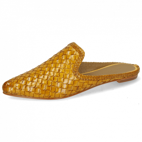 Pantoletten Lydia 2 Woven Scale Yellow Lining