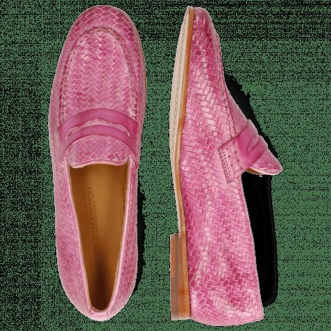 Loafers Scarlett 52 Vegas Haring Bone Weave Lilac