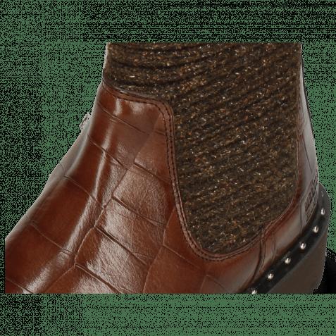 Stiefeletten Susan 69 Turtle Dark Brown Textile Brina Mokka Lining