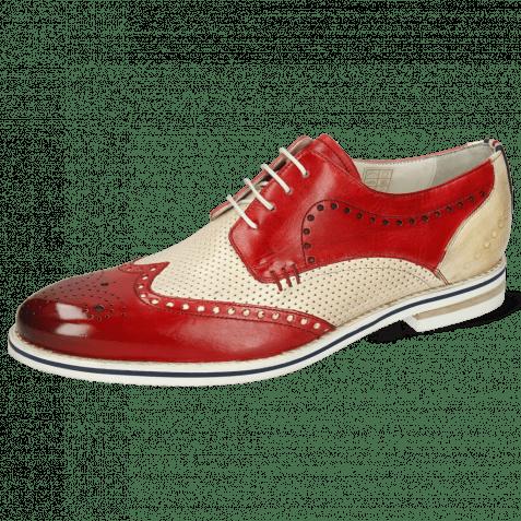 Derby Schuhe Scott 2 Nude Vegas Perfo Ruby