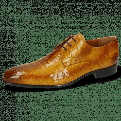 Derby Schuhe Lance 34 Crock Indy Yellow