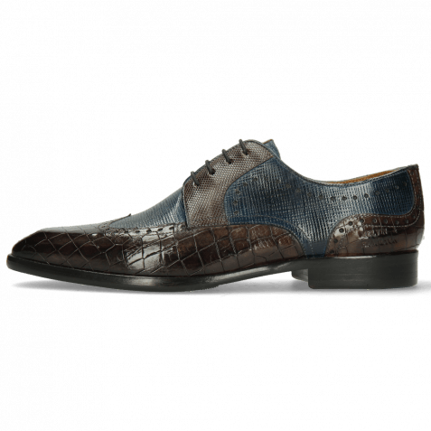 Derby Schuhe Elyas 2 Crock Deep Steel Haina Ice Blue