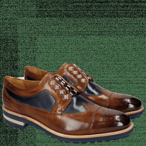 Derby Schuhe Tom 22 Wood Navy Nickle