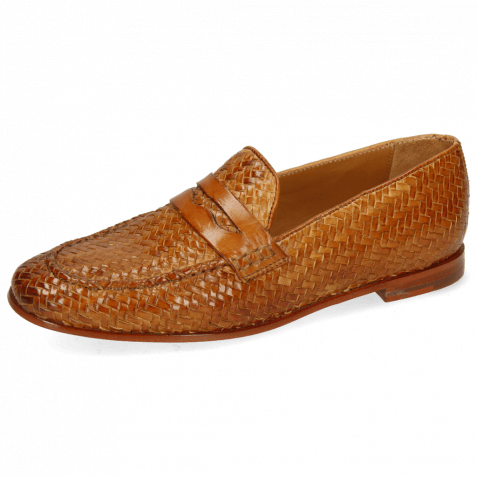 Loafers Scarlett 52 Vegas Haring Bone Weave Tan