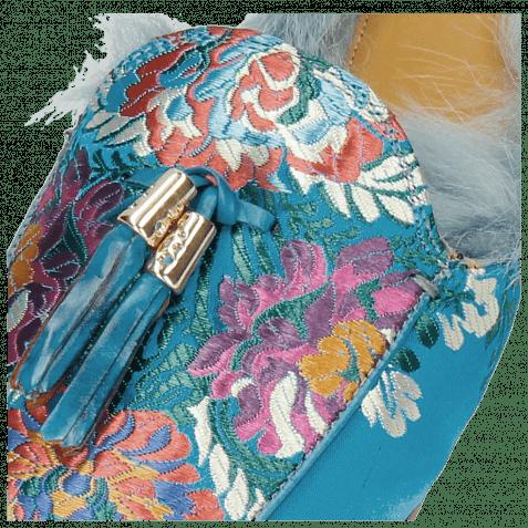 Pantoletten Scarlett 2 Korela Turquoise Fur Lining
