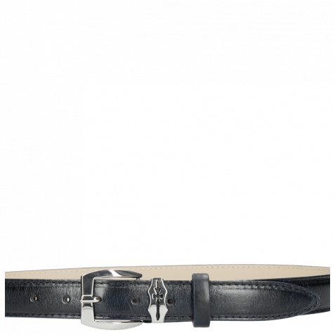 Gürtel Linda 1 Navy Sword Buckle