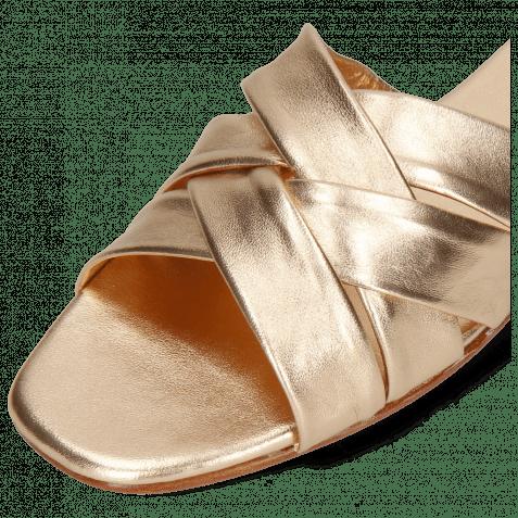Pantoletten Elodie 46 Nappa Rose Gold LS Flex