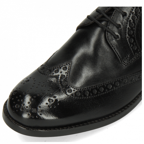 Derby Schuhe Amelie 3 Imola Black Lining Rich Tan