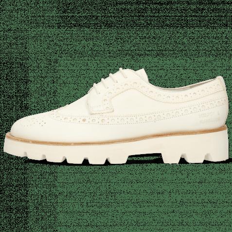 Derby Schuhe Jade 2 Flex White Lining Collar