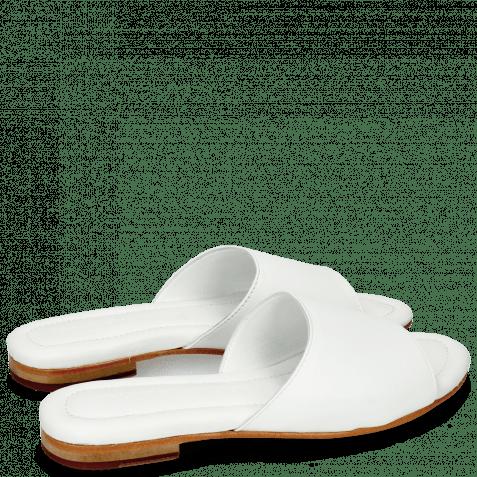 Pantoletten Hanna 5 Nappa Plain White
