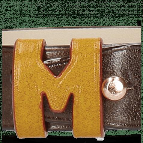 Armbänder Archie 1 Dark Brown Loops Yellow Studs Nickle