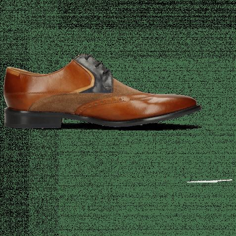 Derby Schuhe Victor 9  Venice Wood Suede Pattini Roccia Navy Sand