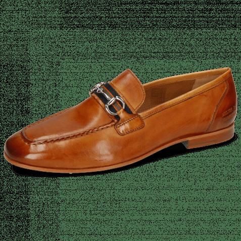 Loafers Clive 16 Imola Tan Strap Navy Orange Olive
