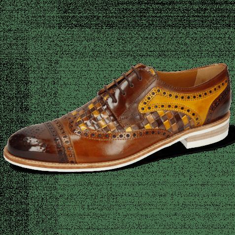 Derby Schuhe Henry 7 Wood Sabbia Tan Woven