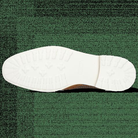 Derby Schuhe Eddy 48 Mid Brown Tan Haring Bone Weave