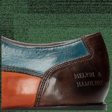 Derby Schuhe Lance 9 Wood Orange Tortora Bluette Dark Brown HRS