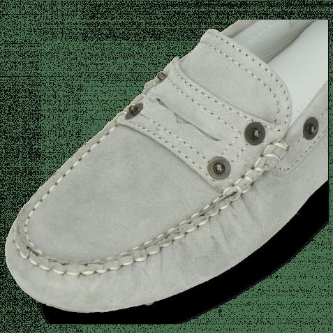 Loafers Caroline 1 Goat Suede Sky Dots