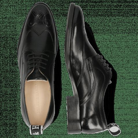 Derby Schuhe Betty 16 Imola Black Strap M&H Flex