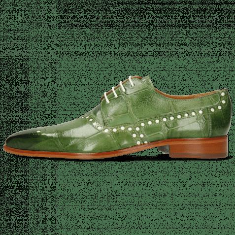 Derby Schuhe Lance 66 Galap Harris Green Underlay