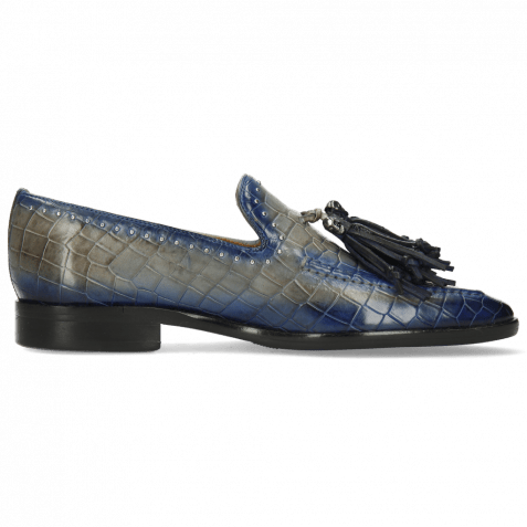 Loafers Emma 11 Crock Morning Grey Shade Electric Blue