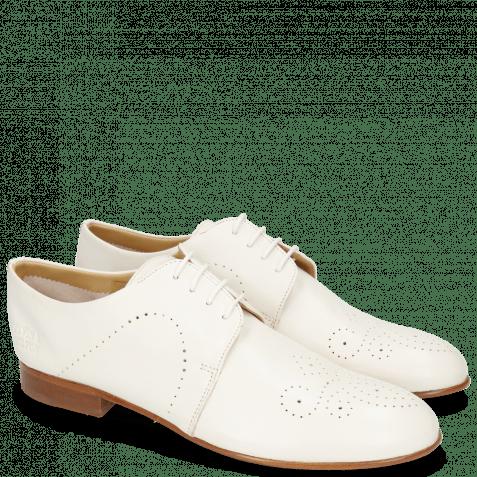 Derby Schuhe Sally 1 Nappa Glove Ivory Lining Collar