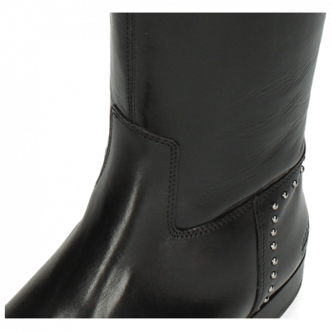 Stiefel Susan 53 Black Rivets Nickle Crown Nappa