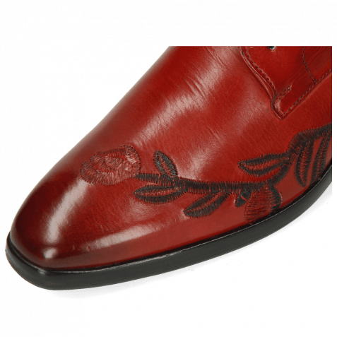 Derby Schuhe Emma 7 Rubino Embroidery Flowers