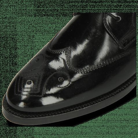 Derby Schuhe Betty 16 Black Backstrap