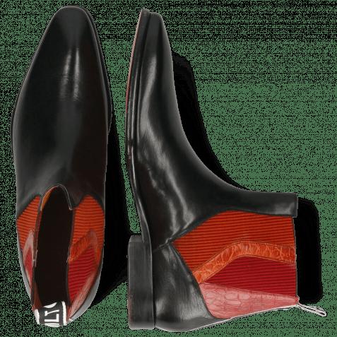 Stiefeletten Elvis 73 Imola Black Elastic Red