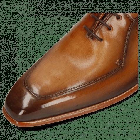 Oxford Schuhe Lance 64 Tan Washed Shade Dark Brown