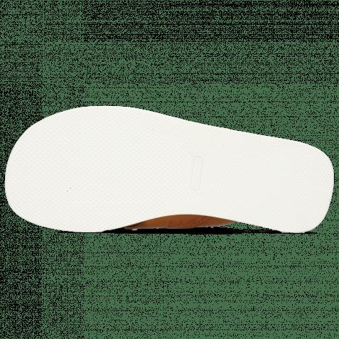 Pantoletten Sam 12 Imola Tan Textile Indonesia Off White