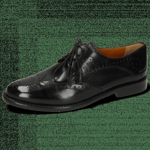 Derby Schuhe Selina 41 Black Lining Rich Tan Flex